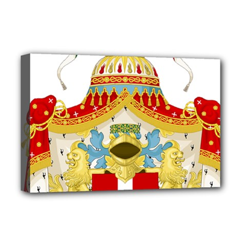Coat of Arms of The Kingdom of Italy Deluxe Canvas 18  x 12