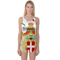 Coat of Arms of The Kingdom of Italy One Piece Boyleg Swimsuit