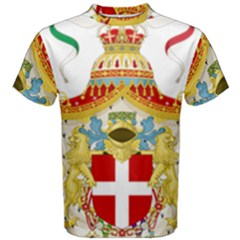 Coat of Arms of The Kingdom of Italy Men s Cotton Tee