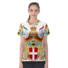 Coat of Arms of The Kingdom of Italy Women s Sport Mesh Tee
