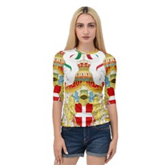 Coat of Arms of The Kingdom of Italy Quarter Sleeve Tee