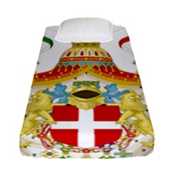 Coat of Arms of The Kingdom of Italy Fitted Sheet (Single Size)