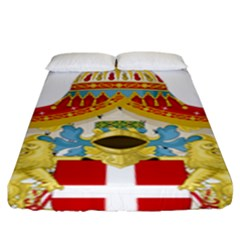 Coat of Arms of The Kingdom of Italy Fitted Sheet (King Size)