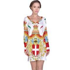 Coat of Arms of The Kingdom of Italy Long Sleeve Nightdress