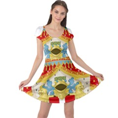 Coat of Arms of The Kingdom of Italy Cap Sleeve Dresses
