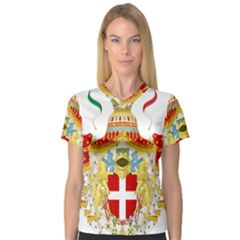 Coat of Arms of The Kingdom of Italy Women s V-Neck Sport Mesh Tee
