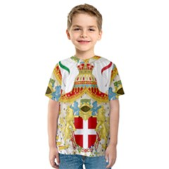 Coat of Arms of The Kingdom of Italy Kids  Sport Mesh Tee