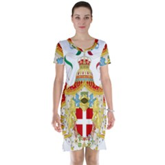 Coat of Arms of The Kingdom of Italy Short Sleeve Nightdress