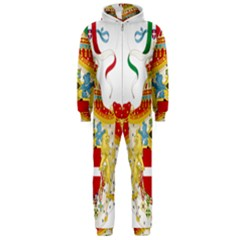 Coat of Arms of The Kingdom of Italy Hooded Jumpsuit (Men)