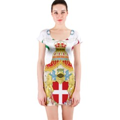 Coat of Arms of The Kingdom of Italy Short Sleeve Bodycon Dress
