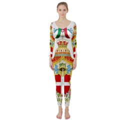 Coat of Arms of The Kingdom of Italy Long Sleeve Catsuit