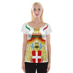 Coat of Arms of The Kingdom of Italy Women s Cap Sleeve Top