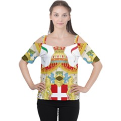 Coat of Arms of The Kingdom of Italy Women s Cutout Shoulder Tee