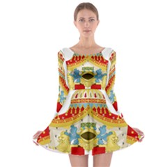 Coat of Arms of The Kingdom of Italy Long Sleeve Skater Dress