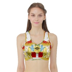 Coat of Arms of The Kingdom of Italy Sports Bra with Border