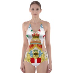 Coat of Arms of The Kingdom of Italy Cut-Out One Piece Swimsuit