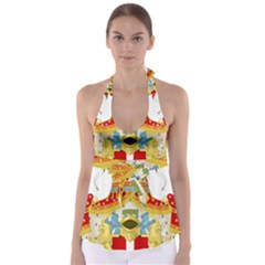 Coat of Arms of The Kingdom of Italy Babydoll Tankini Top