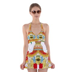 Coat of Arms of The Kingdom of Italy Halter Swimsuit Dress