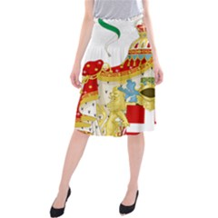 Coat of Arms of The Kingdom of Italy Midi Beach Skirt