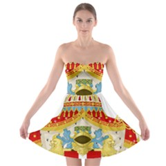 Coat of Arms of The Kingdom of Italy Strapless Bra Top Dress