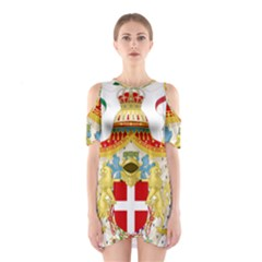 Coat of Arms of The Kingdom of Italy Shoulder Cutout One Piece