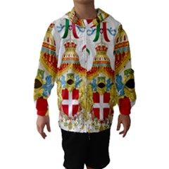 Coat of Arms of The Kingdom of Italy Hooded Wind Breaker (Kids)