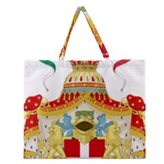 Coat of Arms of The Kingdom of Italy Zipper Large Tote Bag