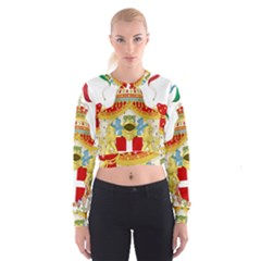 Coat of Arms of The Kingdom of Italy Cropped Sweatshirt