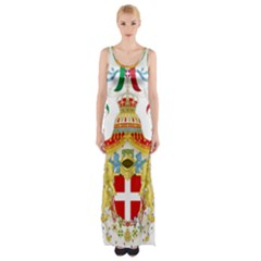 Coat of Arms of The Kingdom of Italy Maxi Thigh Split Dress