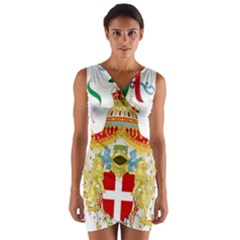 Coat of Arms of The Kingdom of Italy Wrap Front Bodycon Dress