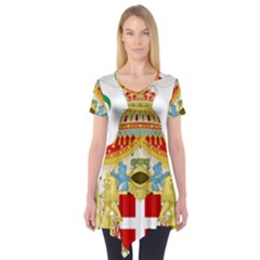 Coat of Arms of The Kingdom of Italy Short Sleeve Tunic