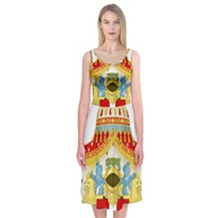 Coat of Arms of The Kingdom of Italy Midi Sleeveless Dress