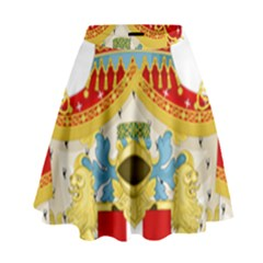 Coat of Arms of The Kingdom of Italy High Waist Skirt