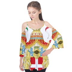 Coat of Arms of The Kingdom of Italy Flutter Tees