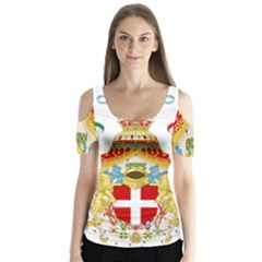 Coat of Arms of The Kingdom of Italy Butterfly Sleeve Cutout Tee