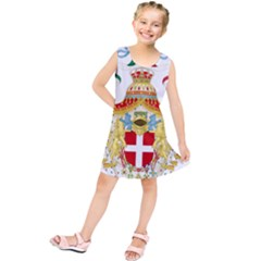 Coat of Arms of The Kingdom of Italy Kids  Tunic Dress