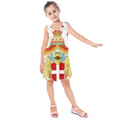 Coat of Arms of The Kingdom of Italy Kids  Sleeveless Dress