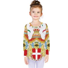 Coat of Arms of The Kingdom of Italy Kids  Long Sleeve Tee