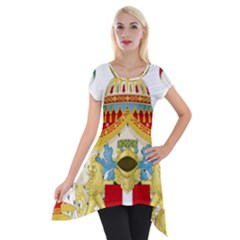 Coat of Arms of The Kingdom of Italy Short Sleeve Side Drop Tunic