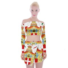 Coat of Arms of The Kingdom of Italy Off Shoulder Top with Skirt Set