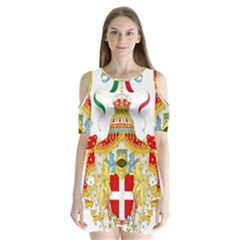 Coat of Arms of The Kingdom of Italy Shoulder Cutout Velvet  One Piece