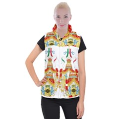 Coat of Arms of The Kingdom of Italy Women s Button Up Puffer Vest