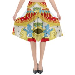 Coat of Arms of The Kingdom of Italy Flared Midi Skirt