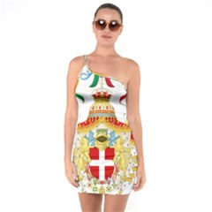 Coat of Arms of The Kingdom of Italy One Soulder Bodycon Dress