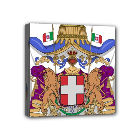 Greater Coat of Arms of Italy, 1870-1890  Mini Canvas 4  x 4