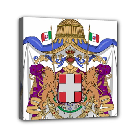 Greater Coat of Arms of Italy, 1870-1890  Mini Canvas 6  x 6