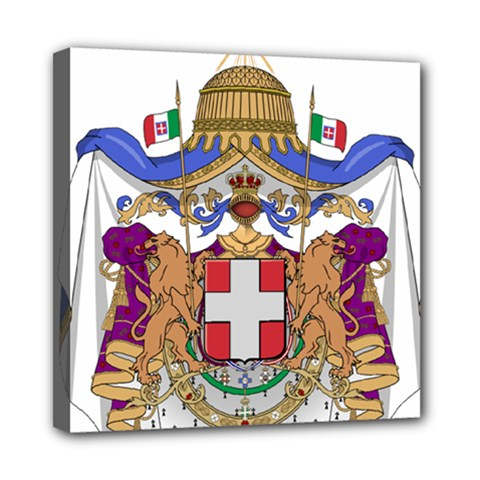 Greater Coat of Arms of Italy, 1870-1890  Mini Canvas 8  x 8