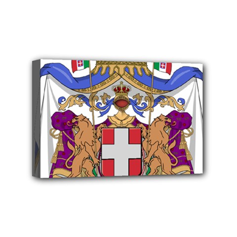 Greater Coat of Arms of Italy, 1870-1890  Mini Canvas 6  x 4