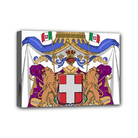 Greater Coat of Arms of Italy, 1870-1890  Mini Canvas 7  x 5