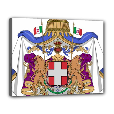 Greater Coat of Arms of Italy, 1870-1890  Canvas 14  x 11